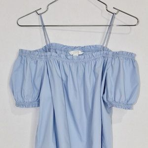 H&M Conscious Baby Blue Cold Shoulder Spaghetti